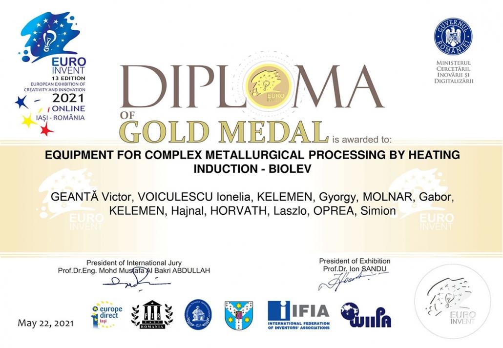 BIOLEV Gold Medal